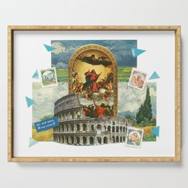 Religious Colosseum Collage Serving Tray