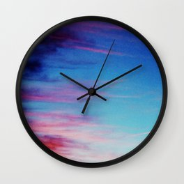 Colorful Sunset Clouds Wall Clock