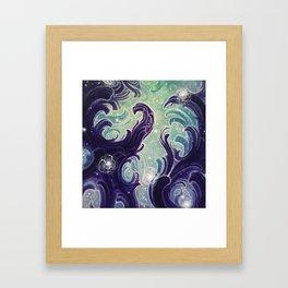 Mint Midnight Framed Art Print