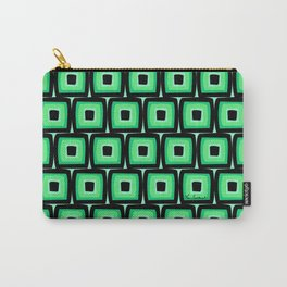 Mod Green Squares Carry-All Pouch