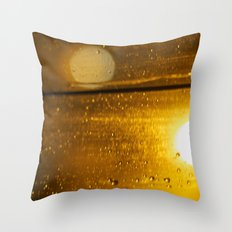 Bokah drops Throw Pillow