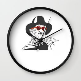 Freddy Only Has Eyes For You Wall Clock