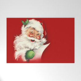 Vintage Santa Welcome Mat