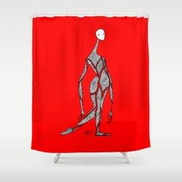 Gaps (color) Shower Curtain