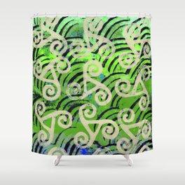 Cream Swirls Shower Curtain