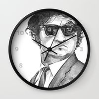 snl Wall Clocks featuring belushi by BzPortraits