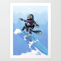 squirtle Art Prints featuring WATERBENDING SQUIRTLE by DROIDMONKEY