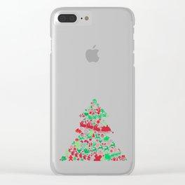 Christmas Tree Santa Sleigh Gift Clear iPhone Case