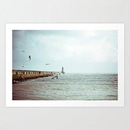 Sunny Pier Art Print