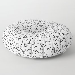 Memphis Pattern 13 - 80s Retro Floor Pillow