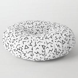 Memphis Pattern 13 - 80s Retro Floor Pillow