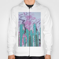 Pink Cactus with Gold Outline Hoody