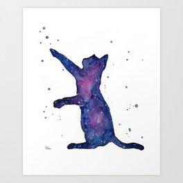 Galactic Cat Art Print