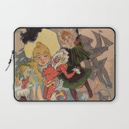 Vintage belle epoque toy store Paris vertical banner Laptop Sleeve