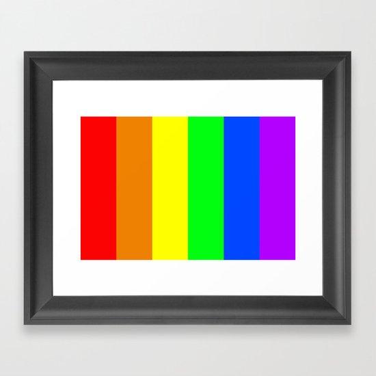 Rainbow Flag - High Quality image Framed Art Print