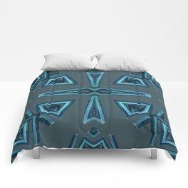 Blue Kaleido Palm Comforters