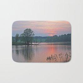 Willen Lake Sunset Bath Mat