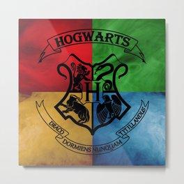 Hogwarts House Crest HP Metal Print