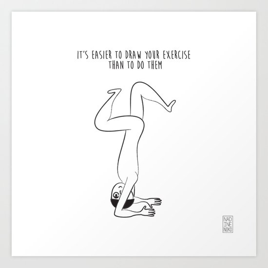 Exercise Art Print