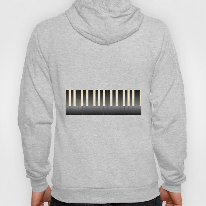 White And Black Piano Keys Hoody