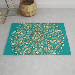 Mandala Project 265 | Gold Rug