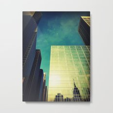 empire state reflection NY Metal Print