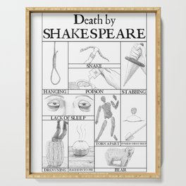 Death by Shakespeare Serving Tray