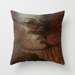 Autumn portrait Throw Pillow