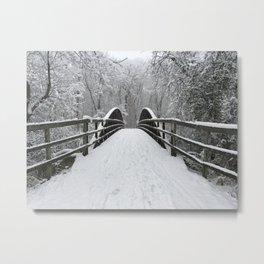 Winter Walk | Through the Woods Metal Print