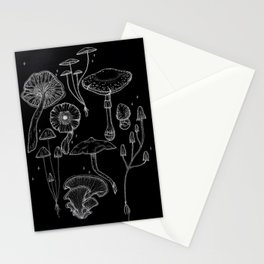Mushrooms & Magick - black Stationery Cards
