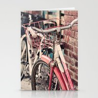 bicycles Stationery Cards featuring Bicycles by Yolanda Méndez