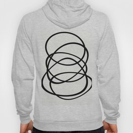 Come Together - Black and white, minimalistic, abstract, art print Hoody