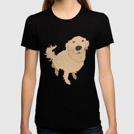 Golden Retriever Illustration on a White Background T-shirt
