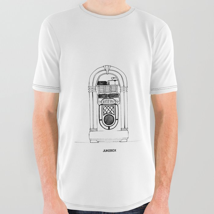 Jukebox All Over Graphic Tee