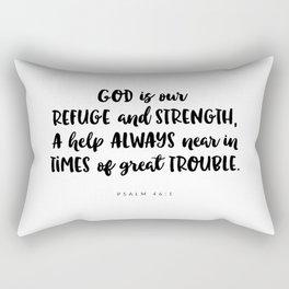 Psalm 46:1 - Bible Verse Rectangular Pillow