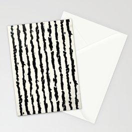 Vertical Ivory Stripes Stationery Cards
