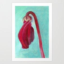 Cyclamen Swirl Art Print