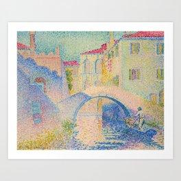 """Henri-Edmond Cross """"Ponte Moro, Rio Grimani (Venise)"""" Art Print"""