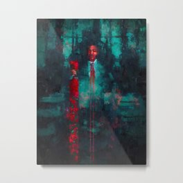 The Thing in the Dark Metal Print