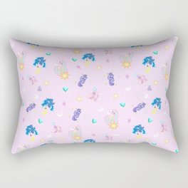 Pony Princess Print Rectangular Pillow