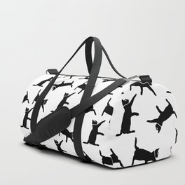 Cats on White Duffle Bag