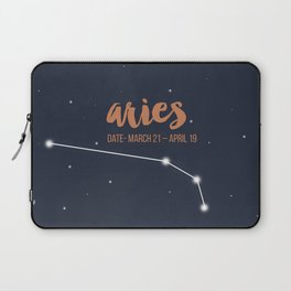 Aries coloured backgound Laptop Sleeve