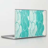 jazzberry Laptop & iPad Skins featuring The Calm and Stormy Seas by Pom Graphic Design