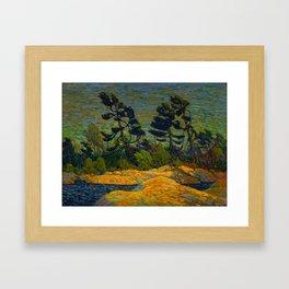 Tom Thomson Byng Inlet Georgian Bay winter 1914-1915 Canadian Landscape Artist Framed Art Print