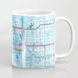 Chicago map in blue Coffee Mug