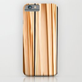 wooden abstract striped pattern iPhone Case