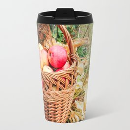 Basket with apples. Travel Mug