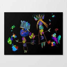 King, queen and butterflies Canvas Print