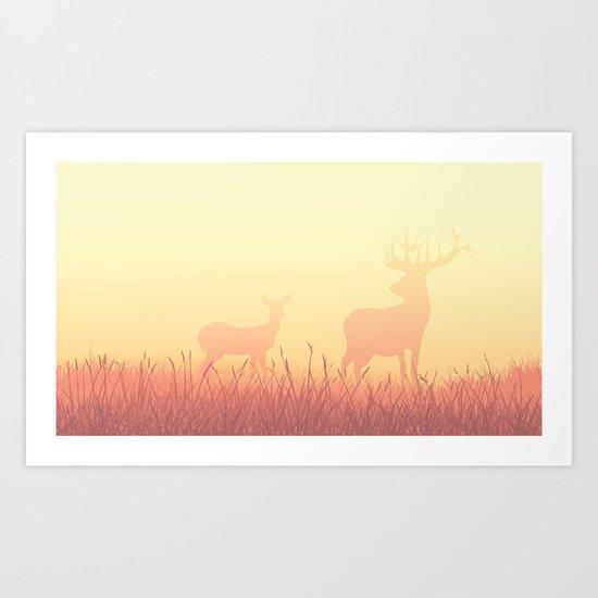 Ghost Deer Art Print