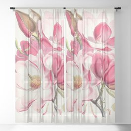 Magnolia Campbelli Flower - Walter Hood Fitch Sheer Curtain